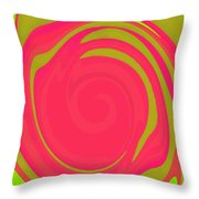 Abstract Color Merge Throw Pillow