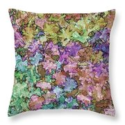 Abstract Colors Pale Throw Pillow