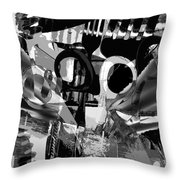 Abstract Composition Of Kitchen Utensils Throw Pillow