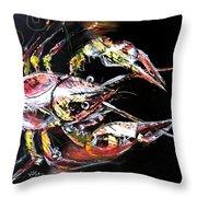 Abstract Crawfish Throw Pillow