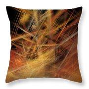Abstract Crisscross Throw Pillow