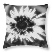Abstract Daisy Throw Pillow