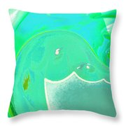 Abstract Down By The Sea  Throw Pillow