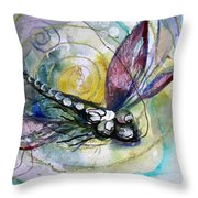 Abstract Dragonfly 11 Throw Pillow