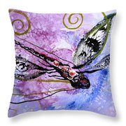 Abstract Dragonfly 6 Throw Pillow