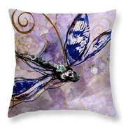 Abstract Dragonfly 9 Throw Pillow