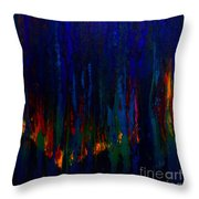 Abstract Evergreens Throw Pillow
