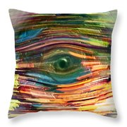 Abstract Eye Throw Pillow