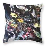 Abstract Fish212 Throw Pillow