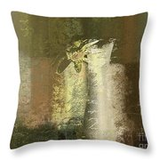 Abstract Floral 04v2g Throw Pillow