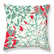 Abstract Flower 16 Throw Pillow