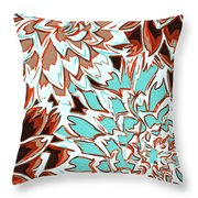 Abstract Flower 17 Throw Pillow