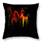 Abstract Fractals Melting 2 Throw Pillow