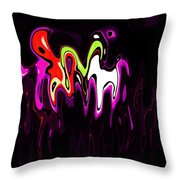 Abstract Fractals Melting 3 Throw Pillow