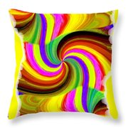 Abstract Fusion 123 Throw Pillow