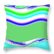 Abstract Fusion 146 Throw Pillow