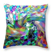 Abstract Fusion 15 Throw Pillow