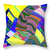 Abstract Fusion 31 Throw Pillow