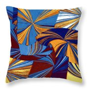Abstract Fusion 34 Throw Pillow