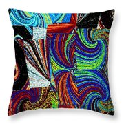 Abstract Fusion 37 Throw Pillow