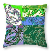 Abstract Fusion 42 Throw Pillow