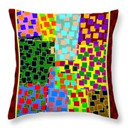 Abstract Fusion 43 Throw Pillow
