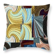 Abstract Fusion 45 Throw Pillow