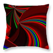 Abstract Fusion 49 Throw Pillow