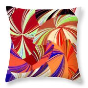 Abstract Fusion 56 Throw Pillow