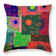 Abstract Fusion 79 Throw Pillow