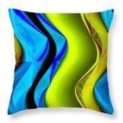 Abstract Fusion 85 Throw Pillow