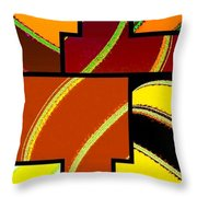 Abstract Fusion 92 Throw Pillow