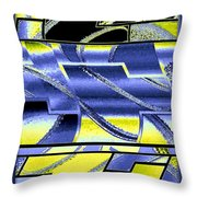 Abstract Fusion 98 Throw Pillow