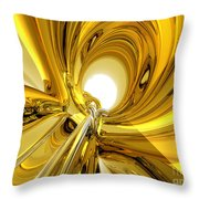 Abstract Gold Rings Throw Pillow