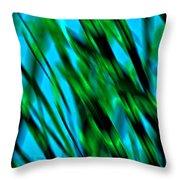 Abstract Green Grass Throw Pillow