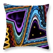 Abstract Hearts Throw Pillow