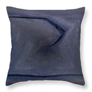 Abstract Ice Throw Pillow
