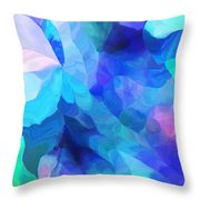 Abstract In Blues 052612 Throw Pillow
