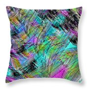 Abstract In Chalk Throw Pillow