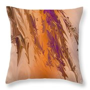 Abstract In July Throw Pillow by Deborah Benoit