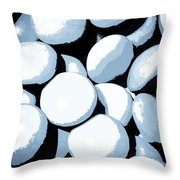 Abstract In Selenium Throw Pillow