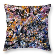 Abstract Interconnection Throw Pillow