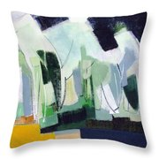 Abstract Island Night And Day Throw Pillow