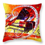 Abstract Jazzy Piano Throw Pillow