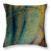 Abstract Jeans Throw Pillow
