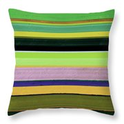 Abstract Landscape - The Highway Series Lll Throw Pillow