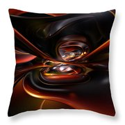 Abstract Lava Flow Fx  Throw Pillow