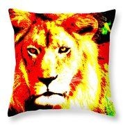 Abstract Lion Throw Pillow