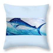 Abstract Marlin Throw Pillow