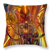 Abstract Medusa Fx   Throw Pillow